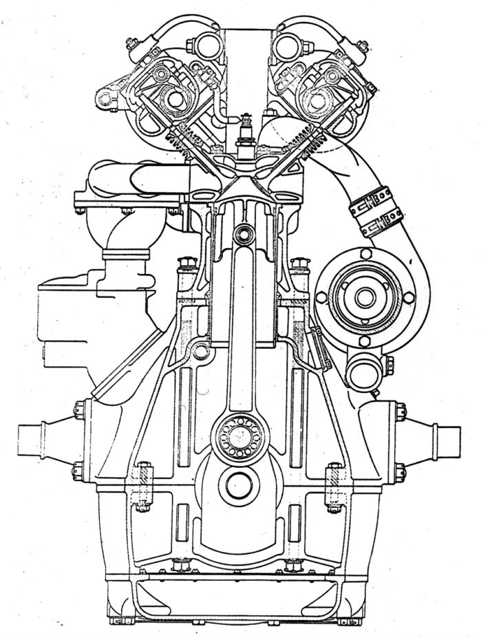 Engine Cross Section Drawing